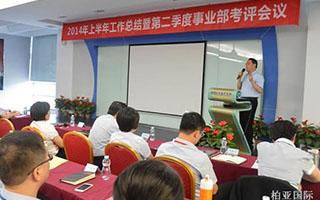 2014年上半年工作总结暨第二季度事业部考评会议